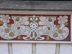 Art Nouveau Sgrafitto, Paris, France Circus Party, Arts And Crafts Movement, Natural Forms, Belle Epoque, Geometric Shapes, Paris France, Art Nouveau, House Design, Home Decor