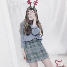 Official korean fashion : korean christmas fashion fashion о Korean Fashion Kpop, Korean Fashion Summer, Korean Fashion Trends, Korean Street Fashion, Ulzzang Fashion, Korea Fashion, Asian Fashion, Girl Fashion, Fashion Looks