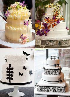Tendência: bolo de casamento com borboletas