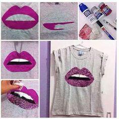 Ideas Diy Ropa Reciclada Camisetas For 2019 Fashion Wear, Diy Fashion, Fashion Clothes, Diy Camisa, Diy Vetement, Painted Clothes, Clothing Hacks, T Shirt Diy, Mode Inspiration
