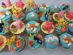 Finding Nemo Cupcakes - Cake by Carol Sea Cupcakes, Cute Cupcakes, New Birthday Cake, Birthday Parties, Finding Nemo Cake, Finding Dory, Ocean Cakes, Cupcakes Decorados, Cupcake Wars