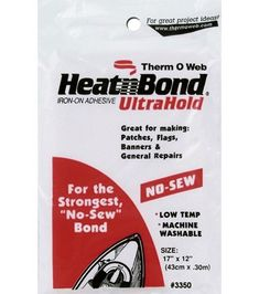 Appliqué supplies: Heat'n Bond Ultra Hold Iron-On Adhesive-17''x12''