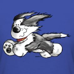 Running Bearded Collie | Modartis Tier Shirt Shop für Zweibeiner