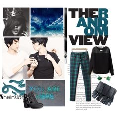 """""""Sheinside: """"We Will Be Together Until The World Ends"""""""" by muzikgurl on Polyvore. Set featuring Kai and Luhan of EXO. #style #fashion #kpop"""