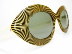 yellow vintage cat sunglasses