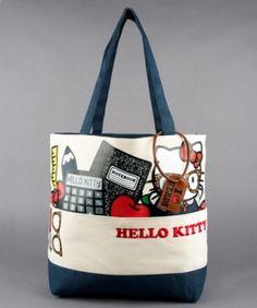 - HELLO KITTY NERD STUFF TOTE