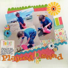 One Page: Beach scrapbook layout