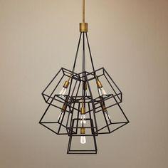 "Hinkley Fulton 27 3/4""W Bronze Cage Multi-Light Pendant"