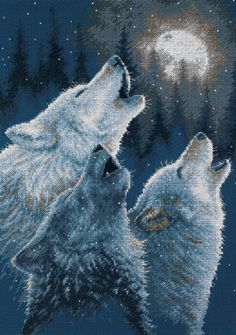Wolf Cross Stitch Patterns