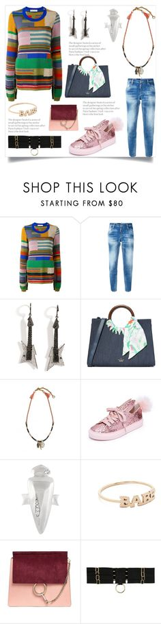"""""""Sweater"""" by camry-brynn ❤ liked on Polyvore featuring Marni, Dsquared2, Lynn Ban, Kate Spade, Lizzie Fortunato, Minna Parikka, Kendra Scott, ZoÃ« Chicco, Chloé and Bordelle"""