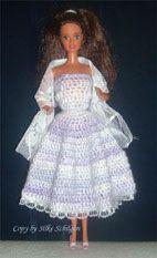 Artikel - Anleitung Barbie® Dress Fabiola - Portal Haekeln - Diy And Home Barbie Wardrobe, Diy Wardrobe, Doll Clothes Barbie, Barbie Dress, Barbie Stuff, Barbie Doll, Blog Crochet, Barbie Und Ken, Reverse Braid