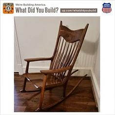 Submitted In Support Of The National Action Alliance For Suicide  Prevention. Chad Built A Maloof. Rocking ChairsRetirementRocking ...