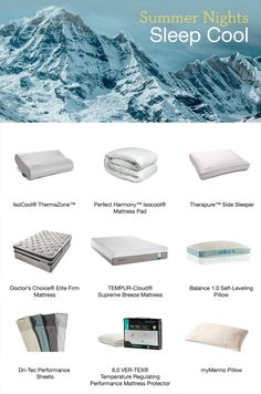 Sleep cool on hot summer nights with innovative cooling products at Denver Mattress.
