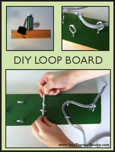 Alzheimer's sensory activities   Loop board  Create a simple threading activity with a board, screw eyes, and some cord or a shoelace.