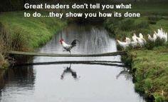 Grote leiders zeggen niet hoe het moet