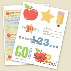 great back to school printables (really good for moms)