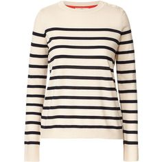 Orla Kiely Resort Collection Breton Stripe Sweater (2,300 MXN) ❤ liked on Polyvore featuring tops, sweaters, shirts, merino sweater, merino wool sweater, colorblock sweater, pink sweater and merino shirt