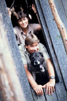 The Irwin's pit bull Sui.  Steve Irwin was and still is one of my heroes.  I am so sad I missed out on meeting him.