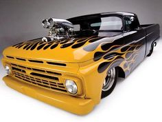 Yellow flames and a blower