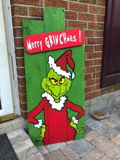 Christmas Porch Decor Grinch Pallet Wood Sign Christmas Porch Decor Grinch Pallet Wood Sign The post Christmas Porch Decor Grinch Pallet Wood Sign appeared first on Pallet Diy. Grinch Party, Le Grinch, Grinch Christmas Party, Christmas Yard Art, Christmas Wood Crafts, Christmas Signs Wood, Christmas Projects, Grinch Stuff, Christmas Lights