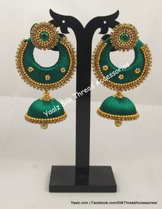 Price For Orders, Whatsapp to 8754032250 We Ship to All Countries Silk Bangles, Thread Bangles, Thread Jewellery, Handmade Jewellery, Jewellery Making, Earrings Handmade, Jewelry Art, Silk Thread Earrings Designs, Silk Thread Jhumkas