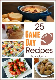 25 awesome recipes to serve at your super bowl party.