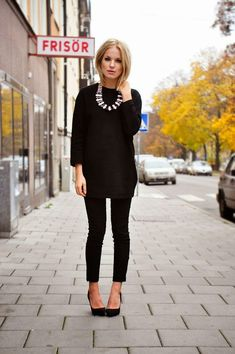 Add a statement necklace to a plain top