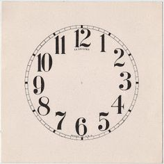 Clock Face - The Graphics Fairy