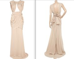 This dress is an absolute stunner. Vionnet ruched silk gown. $4,405.