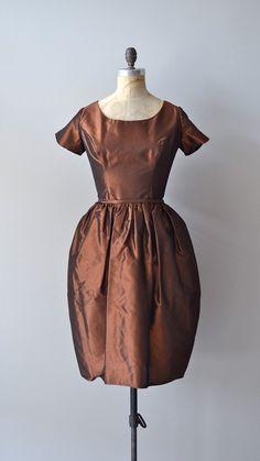 1950's Silk Taffeta Dress. Great color........