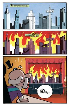 The Powerpuff Girls #1 Preview IDW page 1