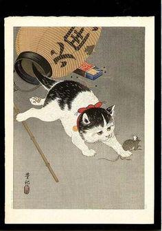 Shoson Ohara: Cat - Japanese Art Open Database