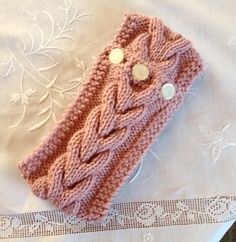 Handknit Chunky Cable Headband, Earwarmer