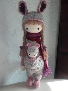 KIRA the kangaroo made by Anja Sch. / crochet pattern by lalylala