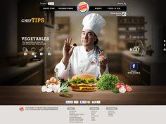Burger King #web design