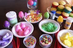 Create a fun Easter Cupcake Bar