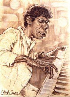 Chick Corea jazz pianist (by Tonio)