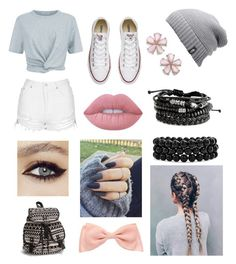 """School. 📚"" by sillylilli02 on Polyvore featuring T By Alexander Wang, Topshop, Converse, The North Face, Bling Jewelry, Lime Crime and NLY Accessories"