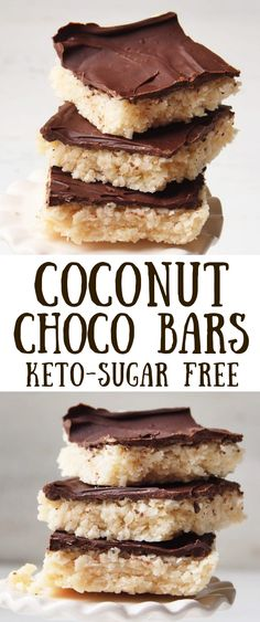 Recipes Snacks Bars Make these Keto coconut bars, Both healthy and Gluten-Free, these bars are Perfect for on-the-go snack and only use a handful of ingredients with no refined sugar. Sin Gluten, Gluten Free, Gourmet Recipes, Low Carb Recipes, Dessert Recipes, Keto Cookies, Brownie Cookies, Chip Cookies, Low Carb Desserts