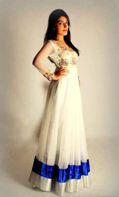 Pakistani Couture, Indian Couture, Pakistani Outfits, Indian Outfits, Indian Attire, Indian Ethnic Wear, Indian Style, Anarkali Dress, White Anarkali