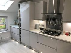 The Kitchen Depot - Made For A Lifetime Grey Kitchen Cupboards, Grey Kitchen Walls, Gray And White Kitchen, Open Plan Kitchen Living Room, Kitchen Flooring, Dining Room, Grey Kitchen Designs, Luxury Kitchen Design, Kitchen Room Design