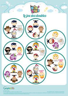 cartes dobble Petite Section, Busy Bags, Jouer, Montessori, Diy And Crafts, Memories, Halloween, School, Children