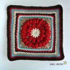 Whimsical Penelope's 12 Square, Easy, Pretty, and Free #crochet pattern by Celina Lane, Simply Collectible
