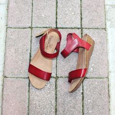 Always an easy and risk-free choice, red 🍉🍉 #papanikolaoushoes #takemeshoes #sandals #flats #leathershoes #comfortshoes Flats, Sandals, Leather Shoes, Heeled Mules, Heels, Easy, Red, Fashion, Toe Shoes