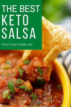 Fresh homemade Keto Salsa recipe is a true favorite in our house! Use this salsa to top your eggs or low carb Mexican dishes. We also enjoy it as keto chips and salsa with pork rinds or low carb tortillas cut into chips! #ketosalsa #homemadesalsa Keto Salsa Recipe, Basic Salsa Recipe, Pork Recipes, Healthy Recipes, Healthy Food, Best Appetizer Recipes, Appetizers, Good Keto Snacks, Low Carb Crackers