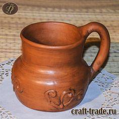Кумочка - керамическая гончарная кружка древнерусской формы  #рукоделец #магазин #handmade #керамика #кружка #pottery #керамическая_посуда