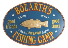 http://www.monstermarketplace.com/custom-made-wood-signs/personalized-fish-camp-oval-19-x26