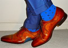 """Magnanni shoes (that little hit of blue near the sole is, as they say, """"everything!"""")…"""