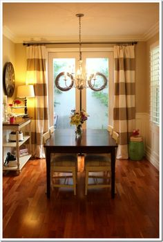 Simple, Bold - and heck - they're only curtains. I can change them up seasonally.  Thoughtful Place Tutorial HERE