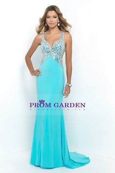 2015 Fascinating Backless Sheath Prom Dresses Straps Beaded Bodice With Rhinestone